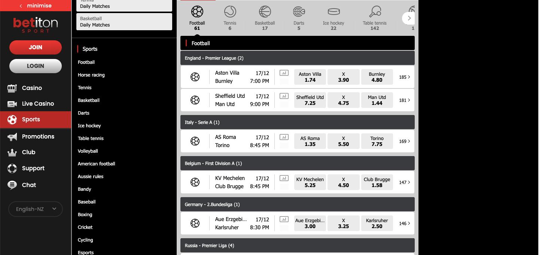 Betiton NZ Betting