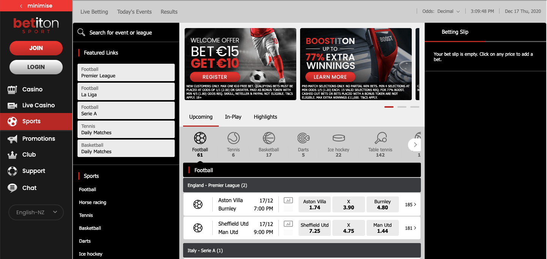 Betiton NZ Homepage