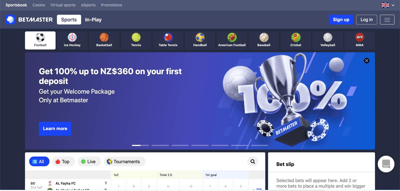 Betmaster nz Homepage