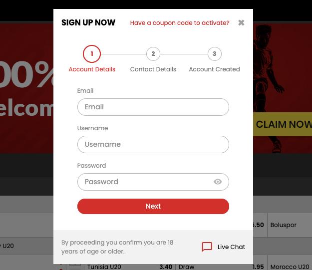 Select.bet nz Register