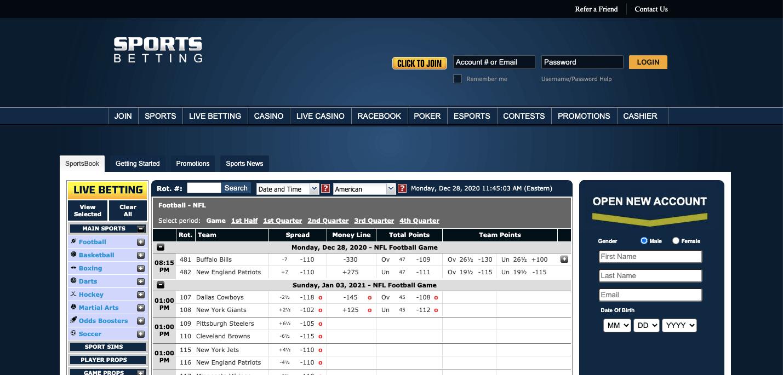 SportsBetting nz Homepage