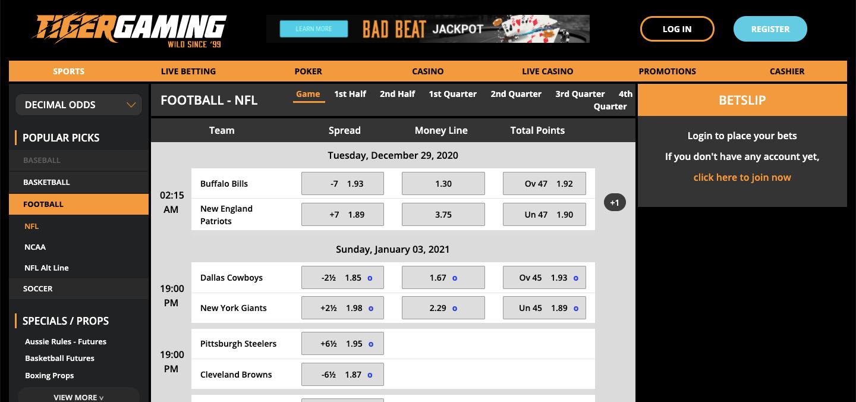 Tiger Gaming nz Homepage