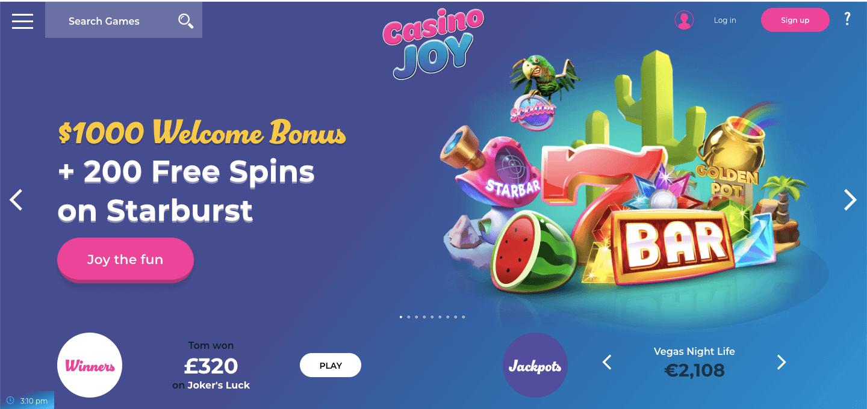 Casino Joy nz Homepage