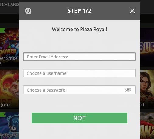 Plaza Royal Casino Register