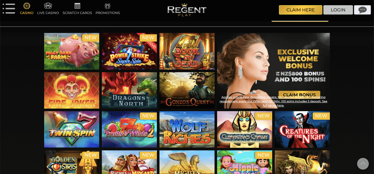 Regent Play Casino nz Slot