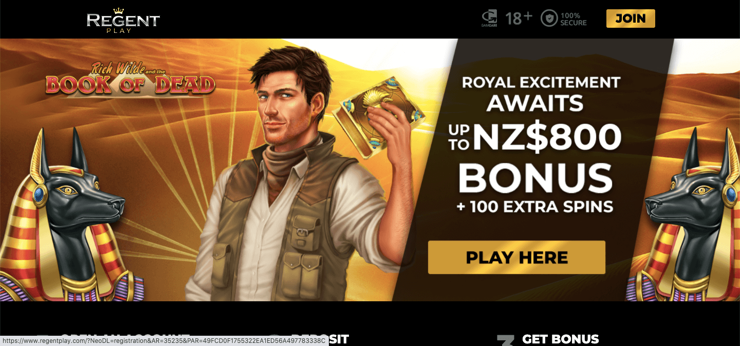 regent play casino homepage